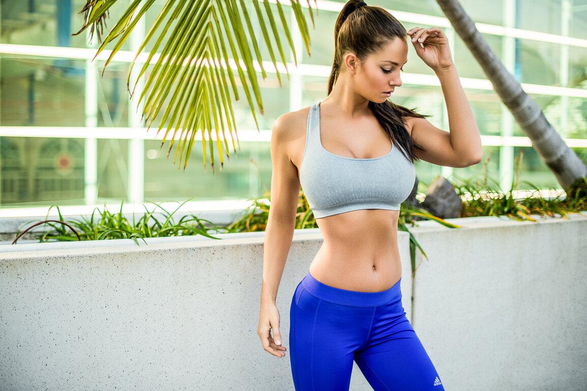 Fitness: Brunette, Woman, Fitness, Ponytail