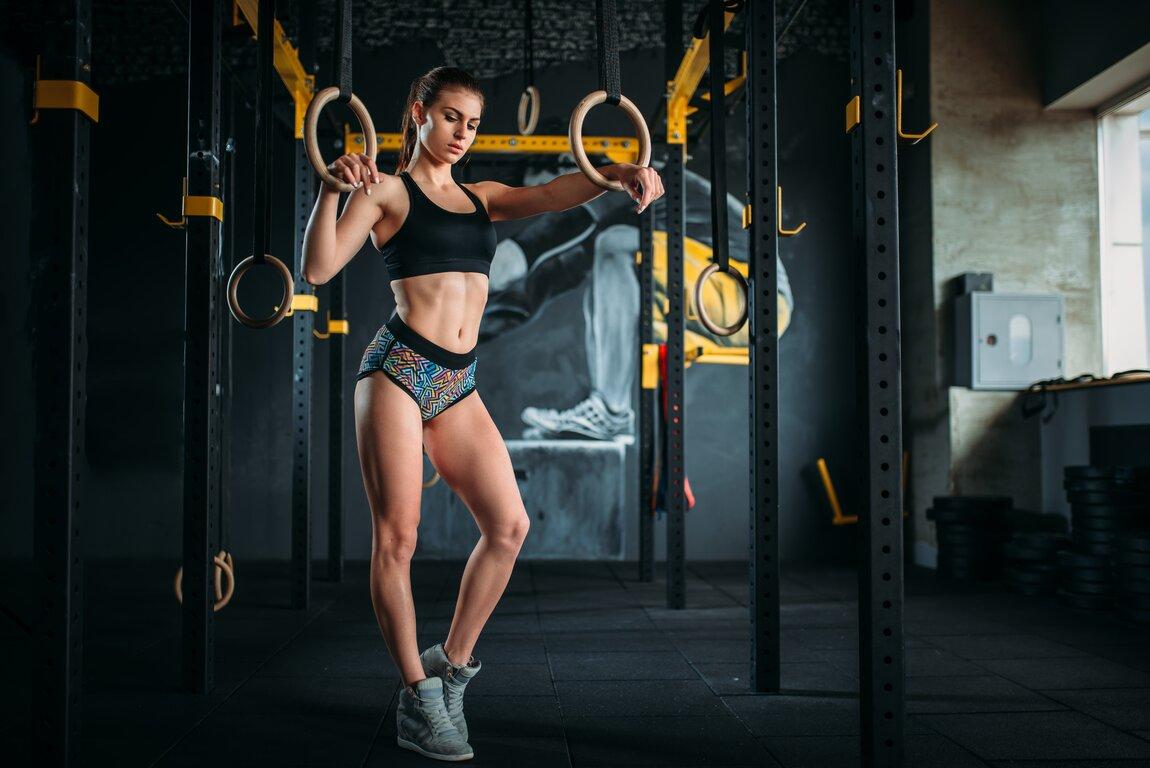 Fitness: Girl, Brunette, Woman, Fitness, Ponytail