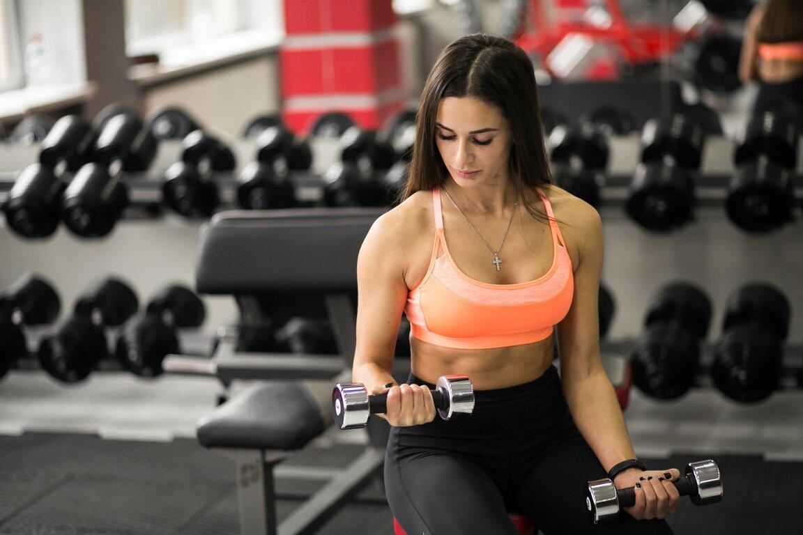 Fitness: Girl, Brunette, Woman, Model, Fitness, Weightlifting