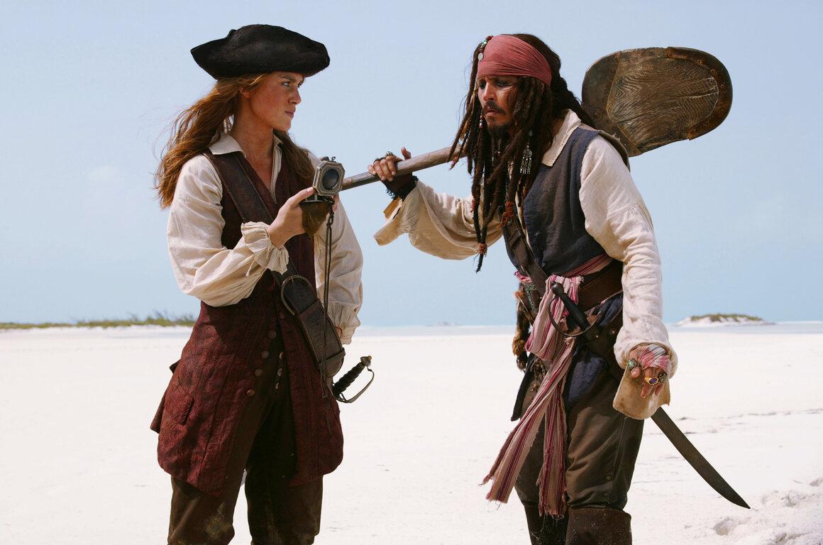 Кира Найтли: Девушки, Jack Sparrow, Джонни Депп, Кира Найтли, Elizabeth Swann