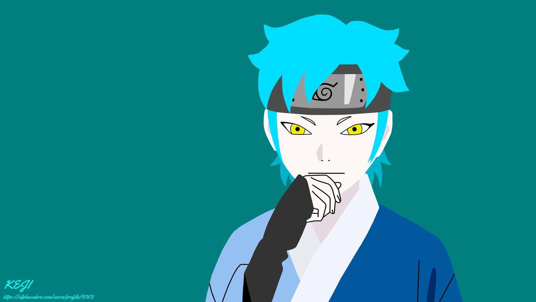 Boruto: Yellow Eyes, Blue Hair, Minimalist, Mitsuki, Boruto: Naruto Next Generations