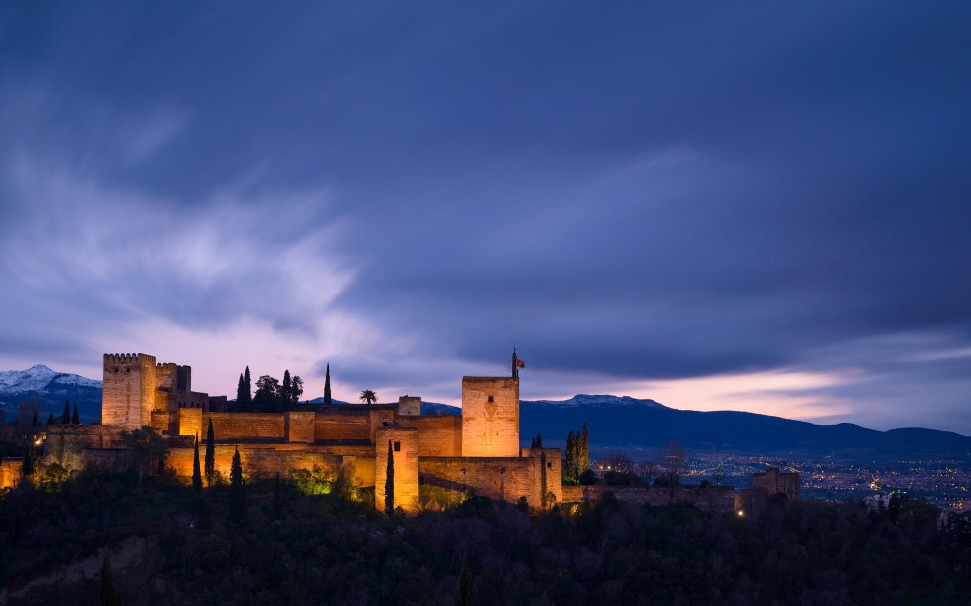Albayzin: Night, Mountain, City, Landscape, Granada