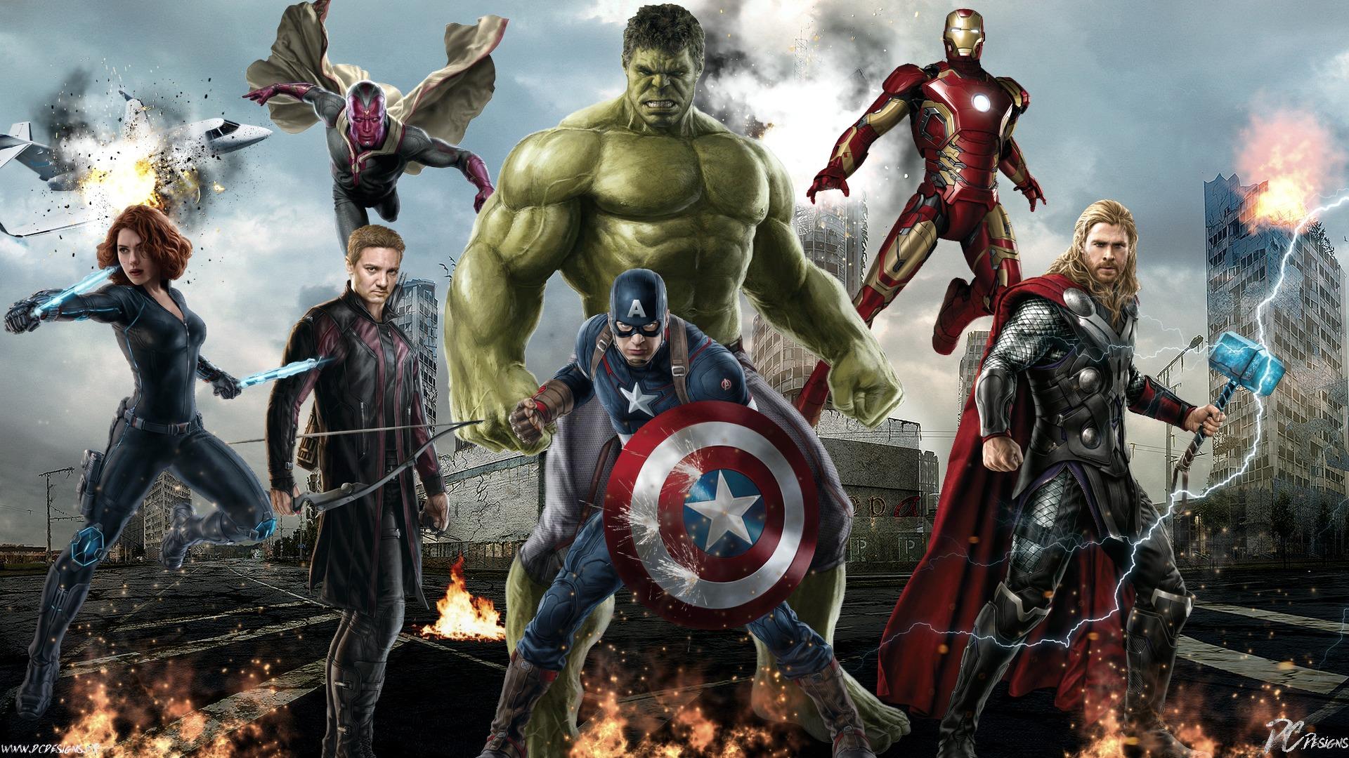 Chris Hemsworth: Avengers, Black Widow, Captain America, Chris Evans, Кріс Хемсворт, Hawkeye, Hulk, Iron Man, Jeremy Renner, Scarlett Johansson, Thor, Avengers: Age of Ultron, Fan Art, Marvel Comics, Vision, Poster