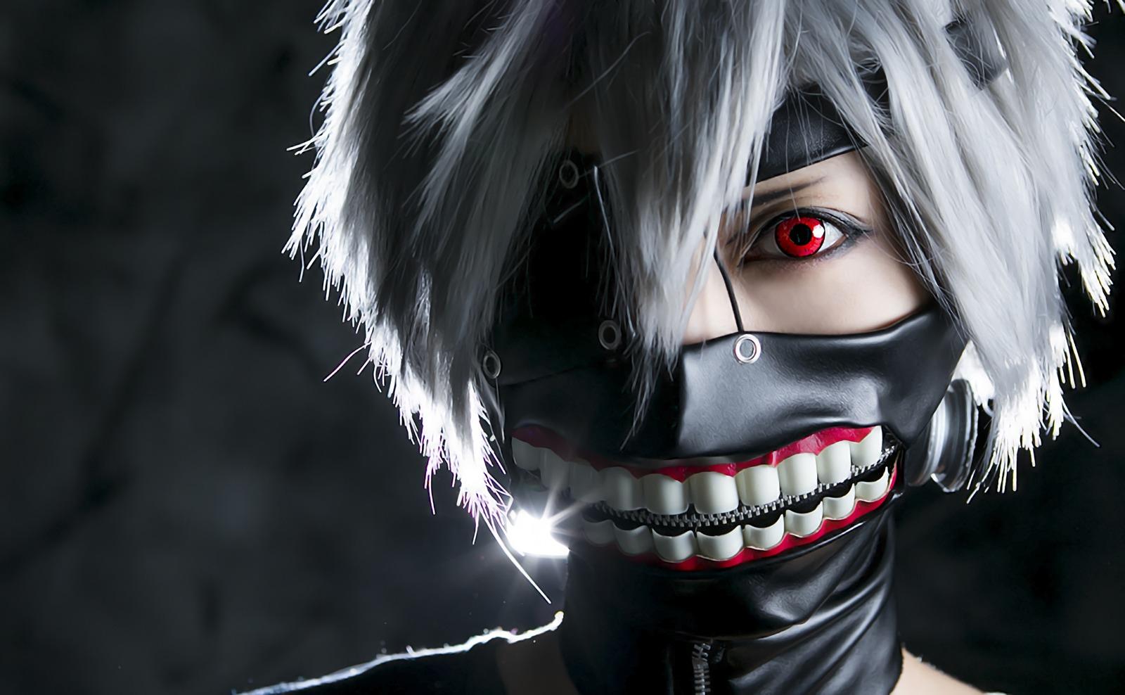 Cosplay: Mask, Ken Kaneki, Tokyo Ghoul, Cosplay