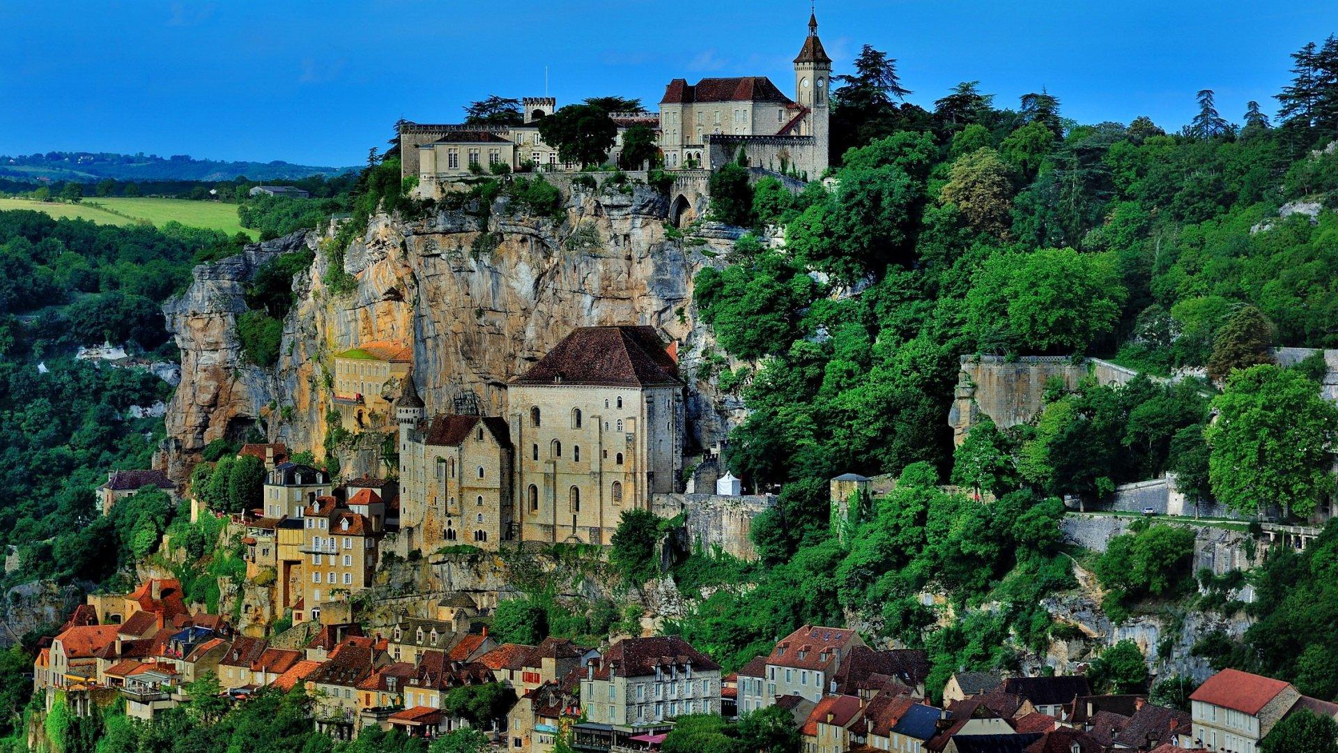 Rocamadour: City, Building, Man Made, France, House, Rocamadour, Stone