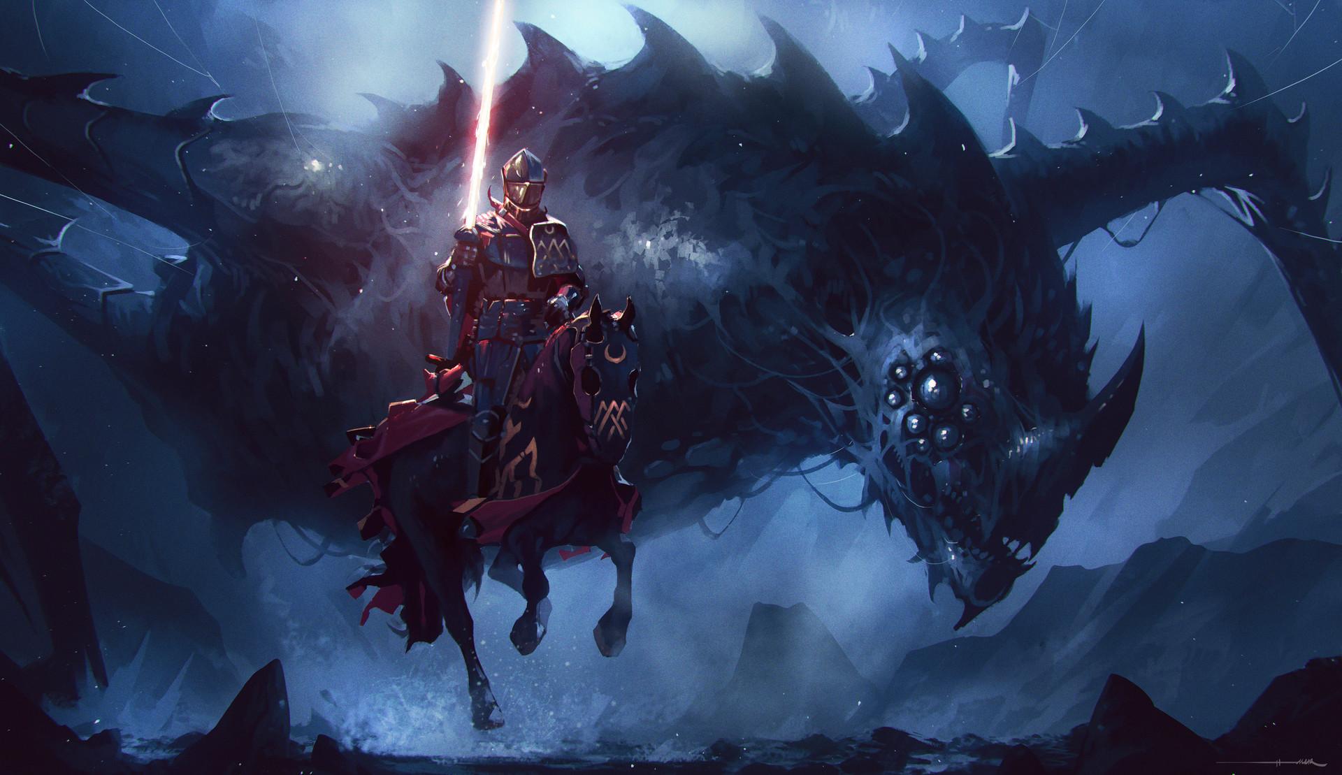 Knight: Темні, Armor, Creature, Воїни, Knight, Lance