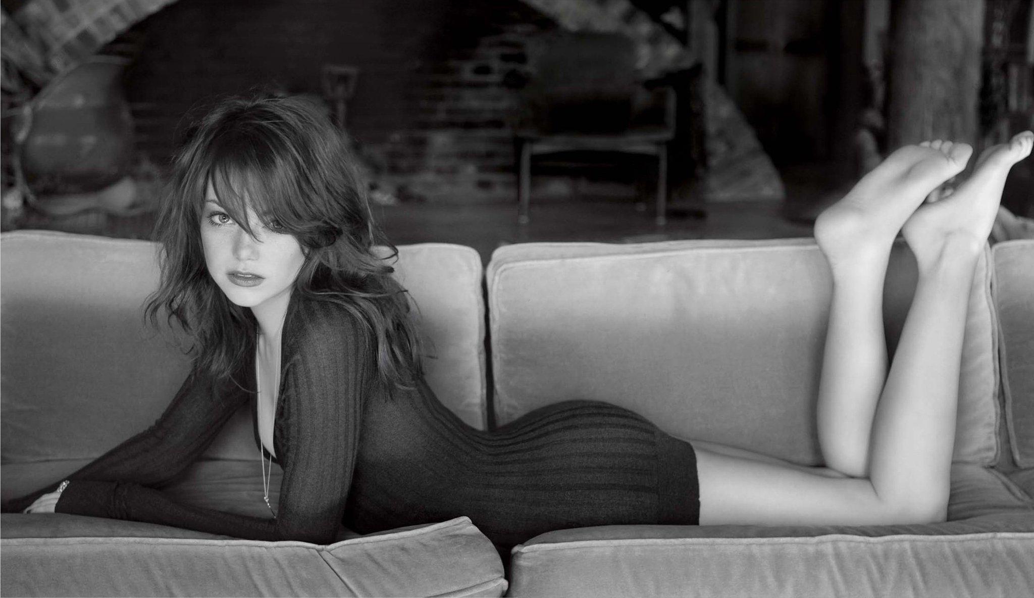 Emma Stone: Black & White, Дівчата, Monochrome, Emma Stone