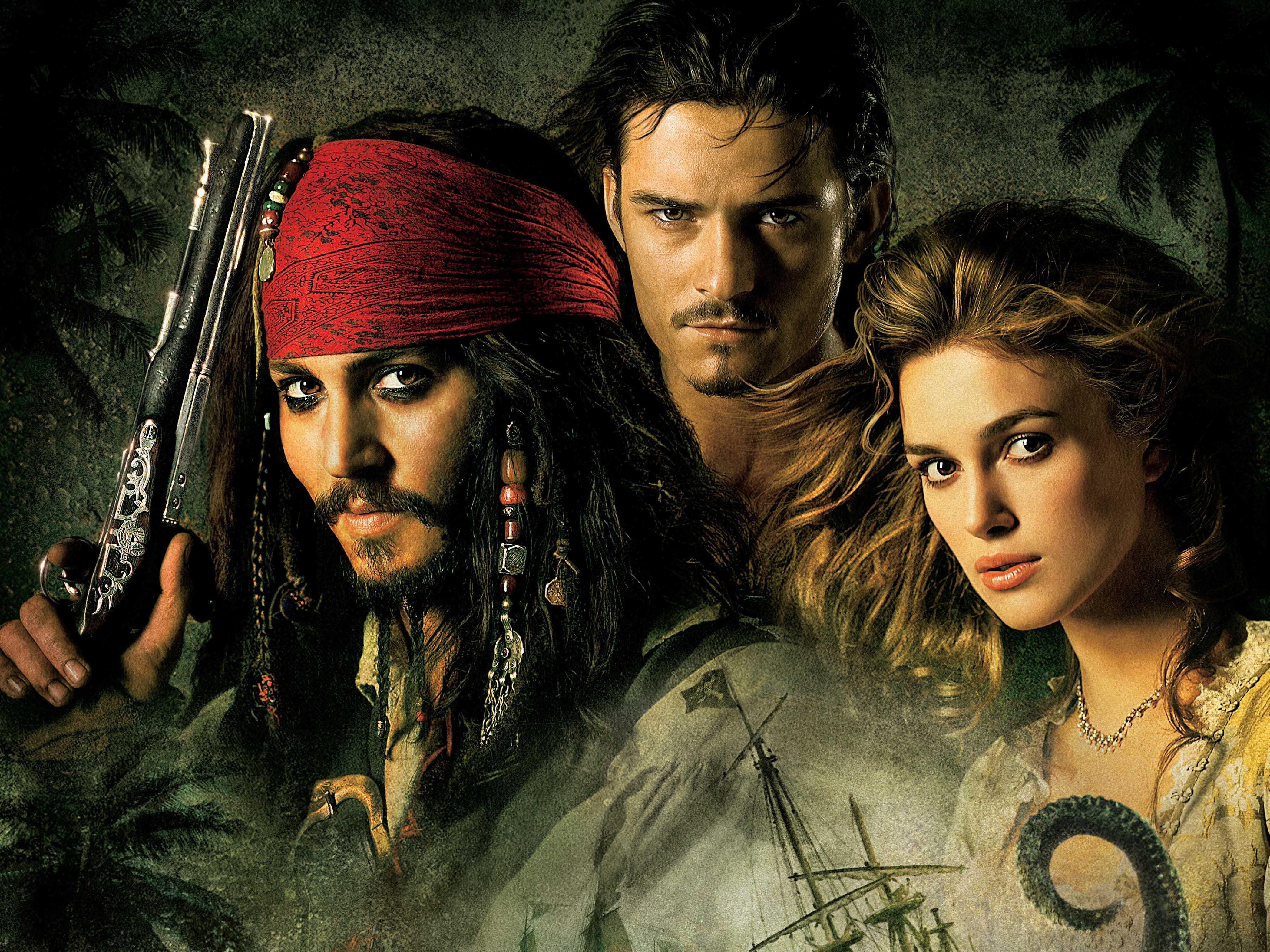 Keira Knightley: Дівчата, Jack Sparrow, Johnny Depp, Keira Knightley, Elizabeth Swann, Orlando Bloom, Will Turner