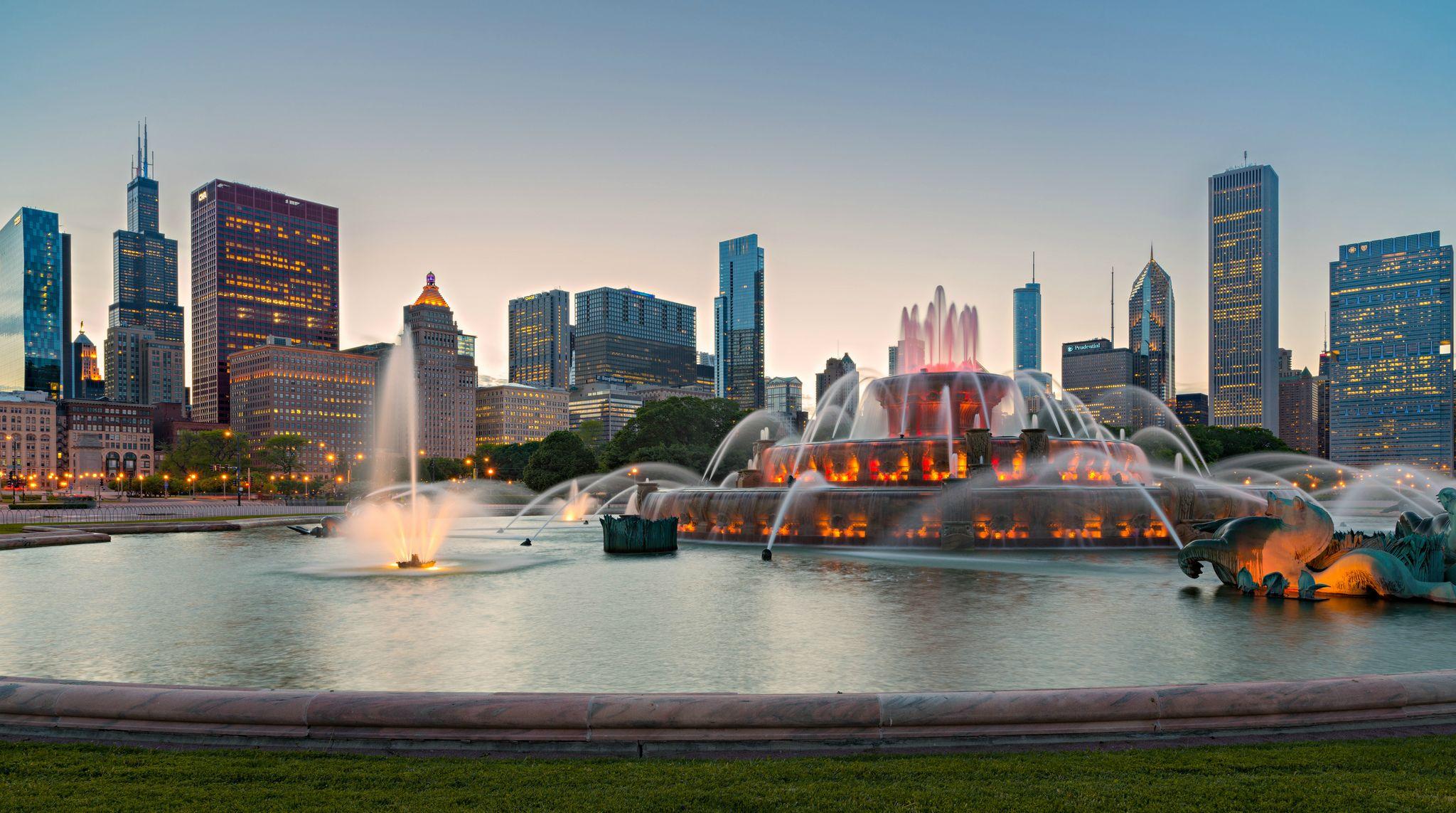 Buckingham Fountain: City, Fountain, Chicago