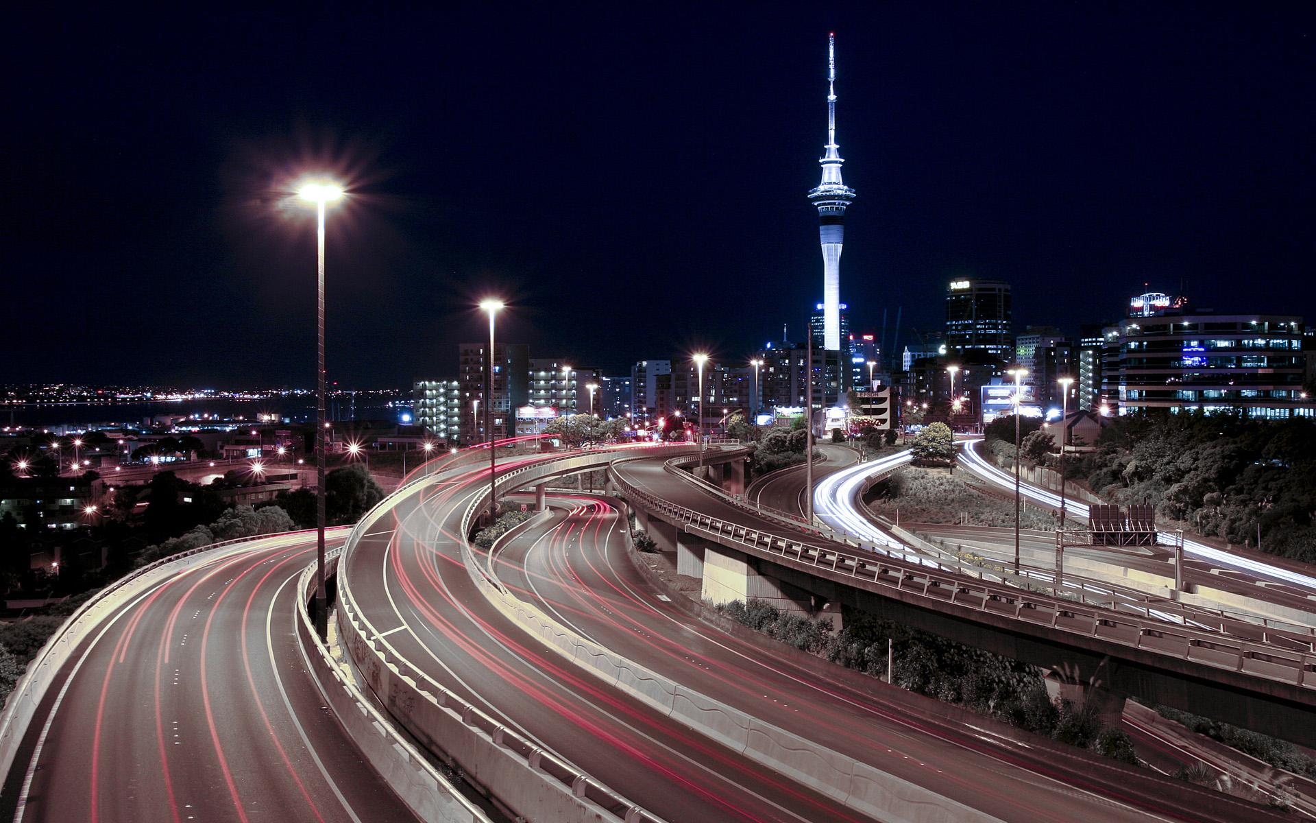 Road: Night, City, Building, Road, Ligths