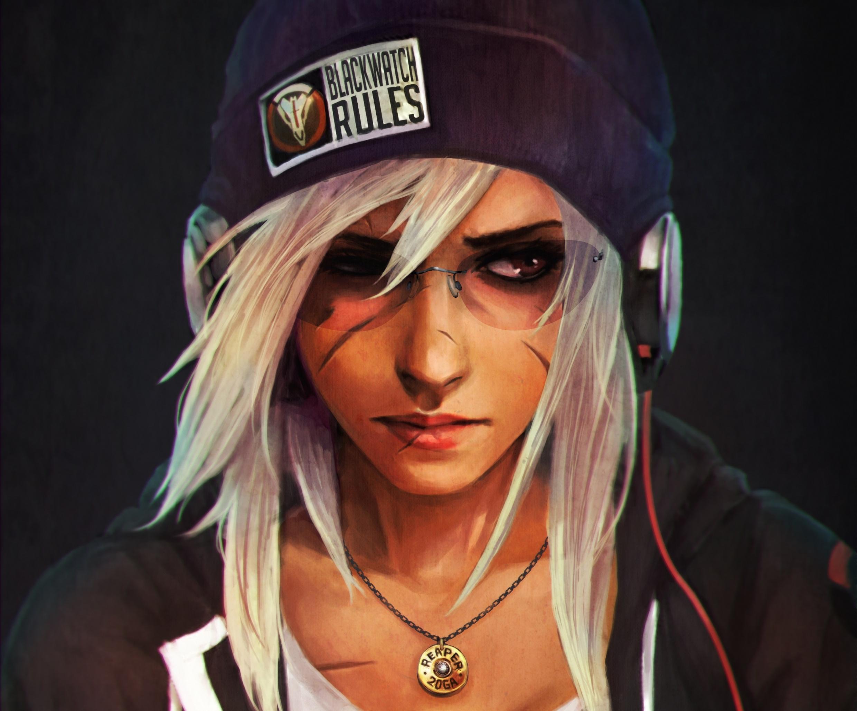 Overwatch: White Hair, Reaper, Blackwatch