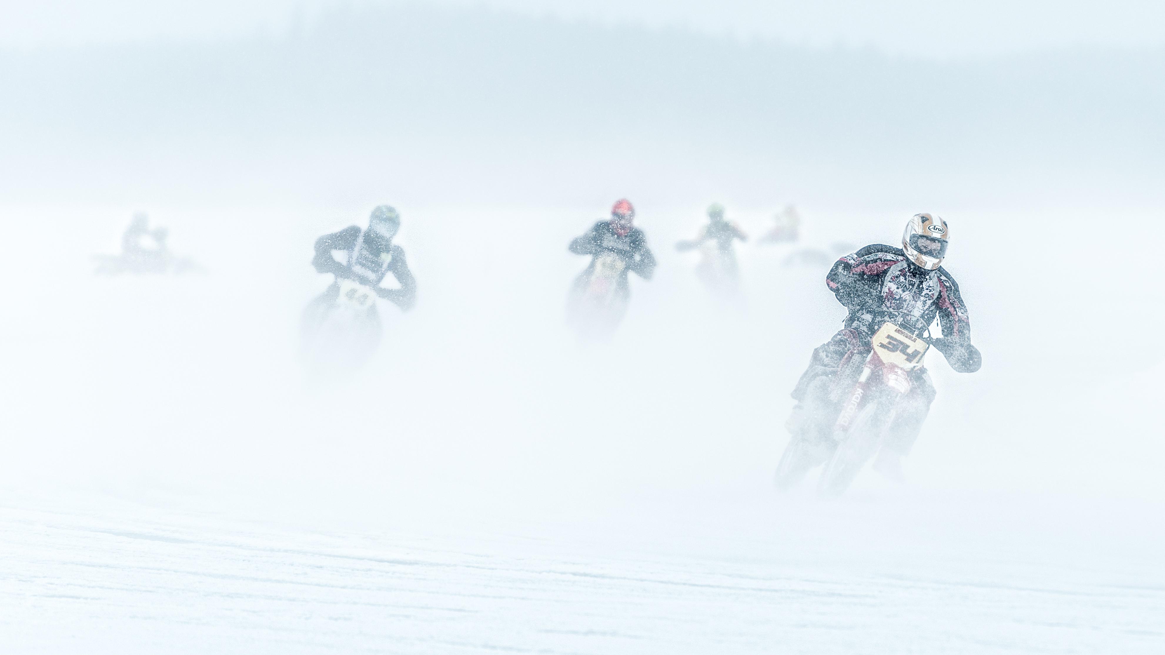 Motocross: Snow, Winter, Motorcycle, Race, Motocross