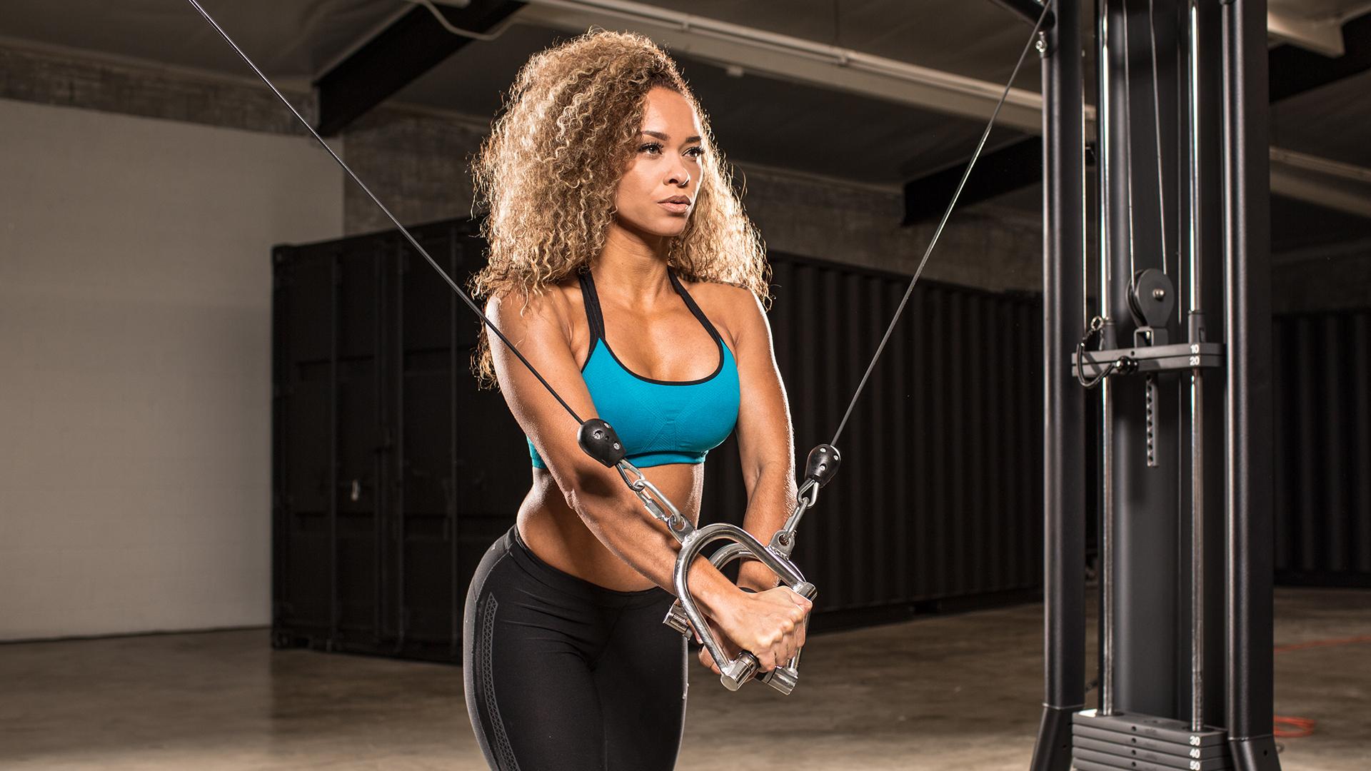 Fitness: Girl, Brunette, Woman, Fitness