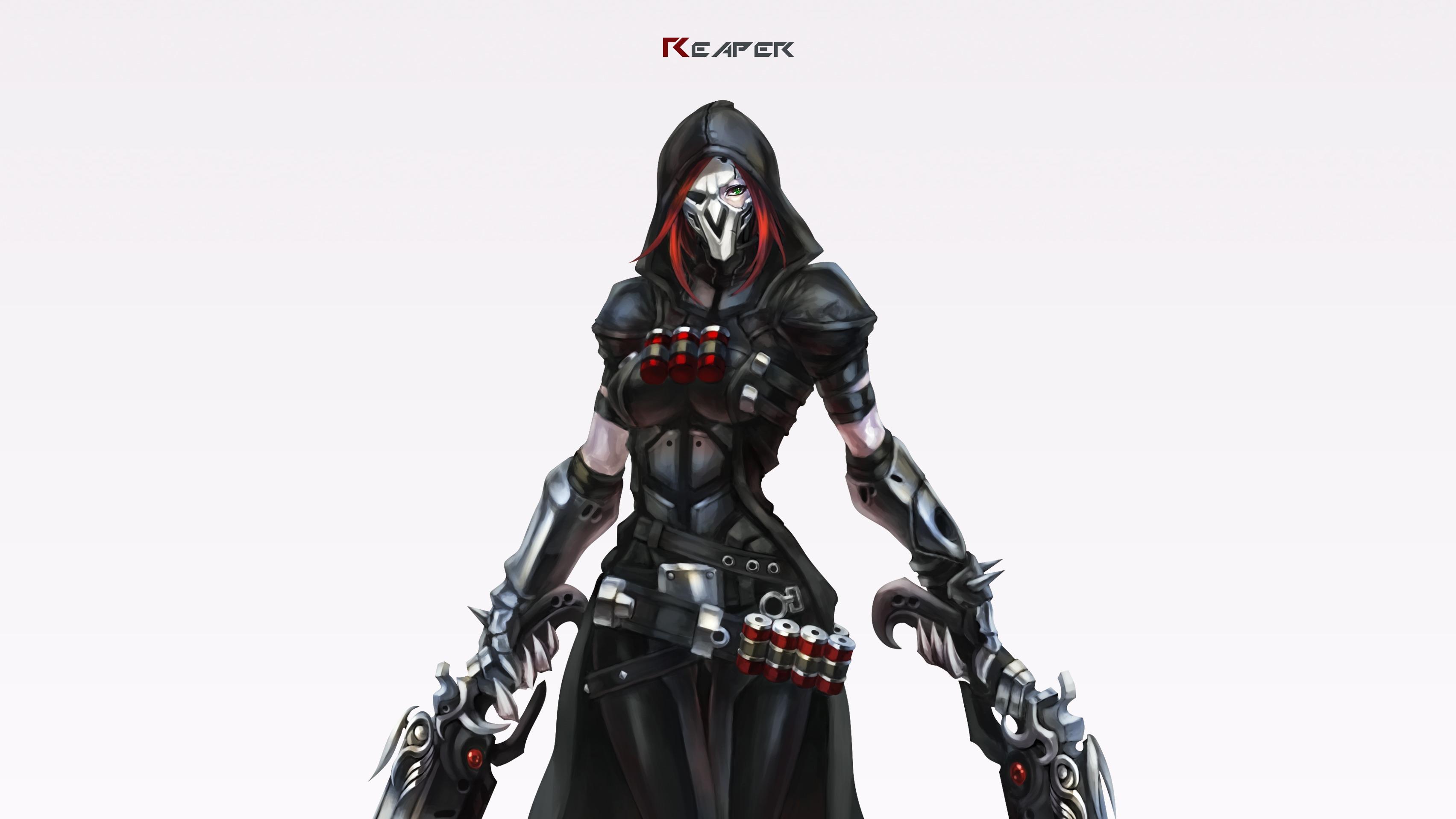Overwatch: Gun, Mask, Reaper, Red Hair