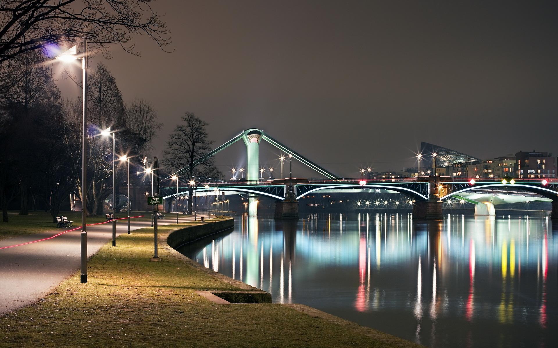 Bridge: Bridge, Light, Night, Architecture, City
