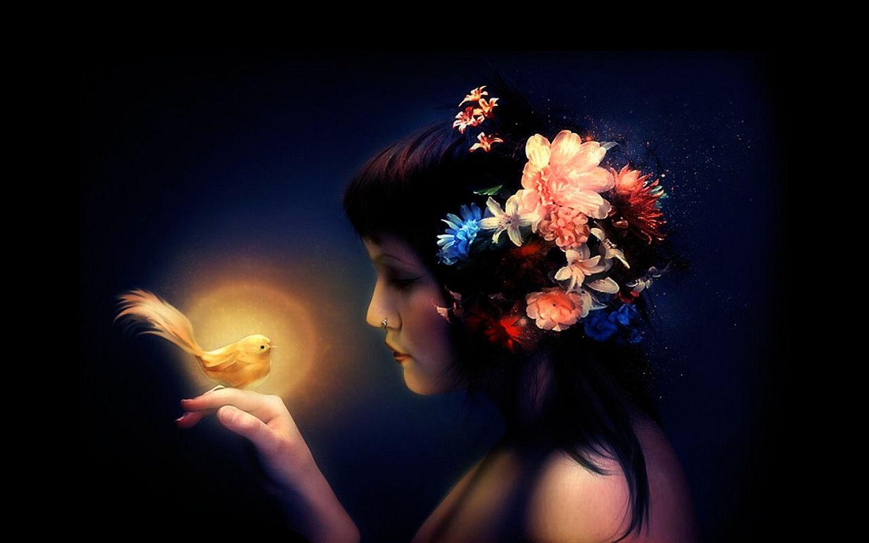Women: Flower, Woman, Bird