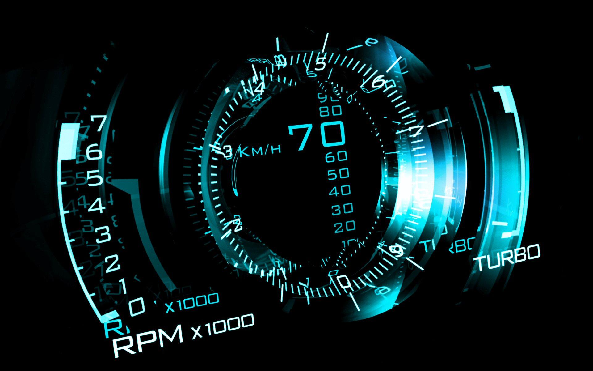Fantasy: Blue, CGI, Digital Art, Speedometer